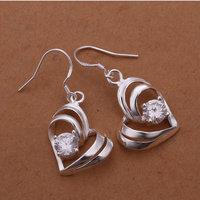 Wholesale 925 silver Earrings,925 silver jewelry Earrings / 925 silver Earrings with pendant free shipping E256