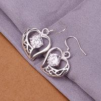 Retail / wholesale Free Shipping 925 Silver fashion pendant Chain Earrings , 925 silver jewelry E254