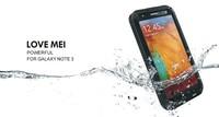 Hot Selling Shockproof Dirtproof Waterproof Love Mei Metal Aluminum Case For Galaxy Note 3 N9000 + Gorilla Glass,1pc/lot