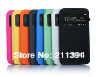 10pcs/lot For Samsung Galaxy S4 S 4 I9500 9500 Original S View Window Flip Leather Cover Dormancy Function Battery Housing Case