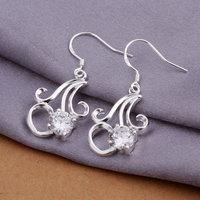 Wholesale 925 silver men's Earrings,925 silver jewelry Earrings 925 silver Earrings free shipping E262