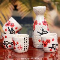 Ceramic wine, Japanese-style wine, liquor wine, bottles , jugs , glasses, suit 4 cups and 1 pot ~
