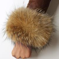 Raccoon  cuff  sleeves large raccoon  cuff  wrist support oversleeps fox  Fur Scarf