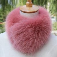 Sub fox fur collar fox fur collar fur scarf square muffler scarf false collar raccoon fur collar