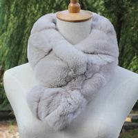 Sub fur collar rex rabbit hair muffler scarf rex rabbit skin scarf women's tristram thermal fox fur collar