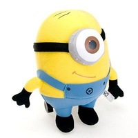 NEW Lot 1 Pcs Despicable Me Minion 3D Eyes Plush Toy Minions 10 Stuffed Doll