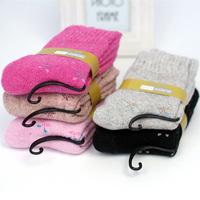 Socks female wool socks winter loop pile socks towel socks thickening cashmere thermal breathable