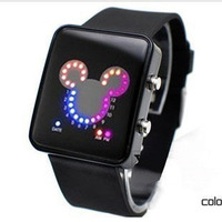 Free shipping Gift girls waterproof watches jelly table fashion electronic watch