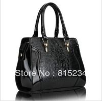 Freeshipping new fashion crocodile pattern 2014 women handbag women messenger bags quality fashion women leather handbags