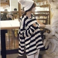 2014 Spring Autumn Maternity Clothing with a Hood Pregnant Sweatshirt Plus Size Casual Loose Top Gravida Hooides Stripe Pullover