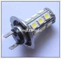 Free shipping 4pcs H7 18 SMD 5050 White Fog Tail Signal 18 LED Car Light Lamp Bulb 12V  H7 car led light auto led lamp