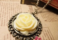 (Min order $10 ) XS0101 Korean hot palace restoring ancient ways yellow roses personality sweater necklace free shipping