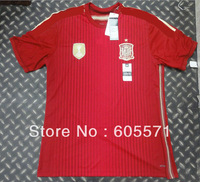 wholesales 2014 world cup spain home soccer jerseys thai 3A+++ soccer uniforms TOP quality  free shipping customized free