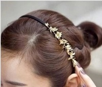 Min Order $15(mixed order)  accessories hair accessory leaves black crystal hair bands headband hair accessory female  1117