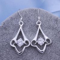Lose Money Promotions! Wholesale 925 silver Earrings, 925 silver fashion jewelry, Flower Earrings E260