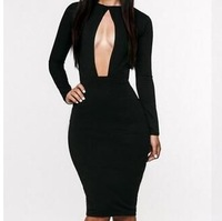 2013 New fashion bandage dress hot bodycon dress sexy women elegant black dresses