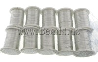Free shipping!!!Copper Wire,tibetan, with Plastic, silver color plated, 0.30mm, Length:10 m, 10PCs/Lot, Sold By Lot