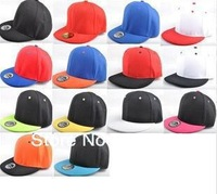 2014 NEW Free shipping Cheap Harajuku adjustable sparkle turn brimmed hat 13 colors Reggae hip-hop baseball cap men and women