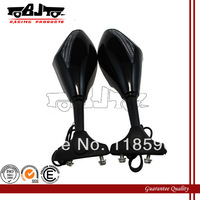 Black color Motorcycle rear mirror Integrated Turn Signal Mirrors with led on mirror side For Honda Yamaha Suzuki