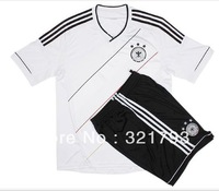 FREE SHIPPING,High-quality Thailand Home German national team football soccer jersey short sleeve t-shirt with shorts
