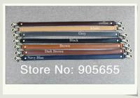 Free shipping wholesale 10pcs/lot high quality double layer PU leather Bag handle.Handbag Belt DIY Buckle bag parts /accessory