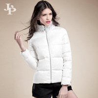 Winter women's 2013 slim diamond Women female short down coat medium-long design
