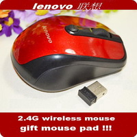 Original Lenovo 2.4G Wireless  Optical color Mouse  Free shipping