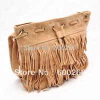 HOT Faux Suede Fringe Tassel Shoulder Bag Womens Handbags Messenger Bag free shipping 5451
