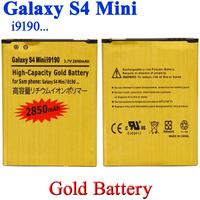20pcs/lot 2850mAh GOLD business Battery Li-ion Battery For Samsung Galaxy S4 Mini i9190 i9192 i9195 i9198 Bateria Batterij ACCU