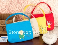 Free Shipping 10 pcs  Cute Anime Cartoon Rabbit Canvas Zipper Small Storage Bag  Purse Wallets Cosmetic Bag