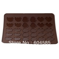 Bear Heart Penguin Silicone Macaron Mat Cookie Mold Muffin Baking Tray