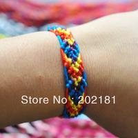Free shipping WM-020  1CM COTTON  woven bracelet  Fashion jewelry handmade weave rope string friendship bracelets