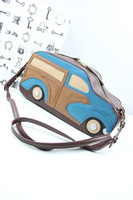 Aza 2013 women's autumn and winter bags vintage classic cars color block cowhide messenger bag