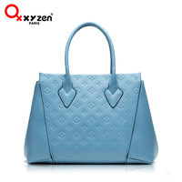 Oxxyzen2013 women's cowhide handbag fashion embossed handbag bag messenger bag