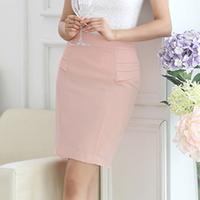 2014 short skirt women's light weight fabric ol slim mid waist bust skirt    C015