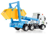 Promote Project Team Remote Control Simulation sanitation vehicle 6 wheel drive Truck  Engineering Carrier Vehicle toys