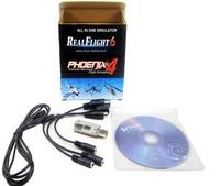 8 in 1 real flight simulator cable Support RealFlight6 Phoenix 4.0 / G2 G3 G4 XTR FMS AeroFly rc simulator
