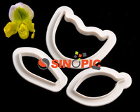 10sets Paphiopedilum Shape Fondant Cake Sugarcraft Cookie Cutter Tool