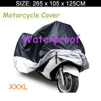 Big Size 265*105*125cm Motorcycle Covering Waterproof Dustproof Scooter Cover UV resistant Heavy Racing Bike Cover