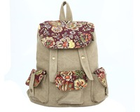 new fashion preppy style printing backpack mochila for men and women canvas backpack Free Shipping