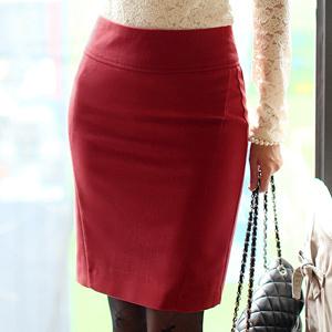 New 2014 formal solid color woolen professional short   slim hip skirt bust skirt bud skirt    B411
