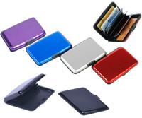 Free shipping!!!Waterproof Aluminum Business ID Credit Card Mini Wallet Holder Pocket Case Box