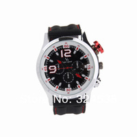 2014 Man Luxury Brand Men's Silicone Analog Quartz Military Wrist Watch V6 Fashionable Sport Watch Freeship