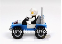 Intellectual development, assembling building blocks toys, police dune buggy - 3 sets