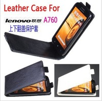 Free shipping! LENOVO A760 Leather Case, New PU Flip Leather Cover Case for LENOVO A760 CASE