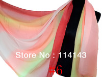 10pcs/lot Fashion Rainbow Multi Colors Print Scarf Shawl Wrap Winter Scarfs 180*110cm, Free Shipping