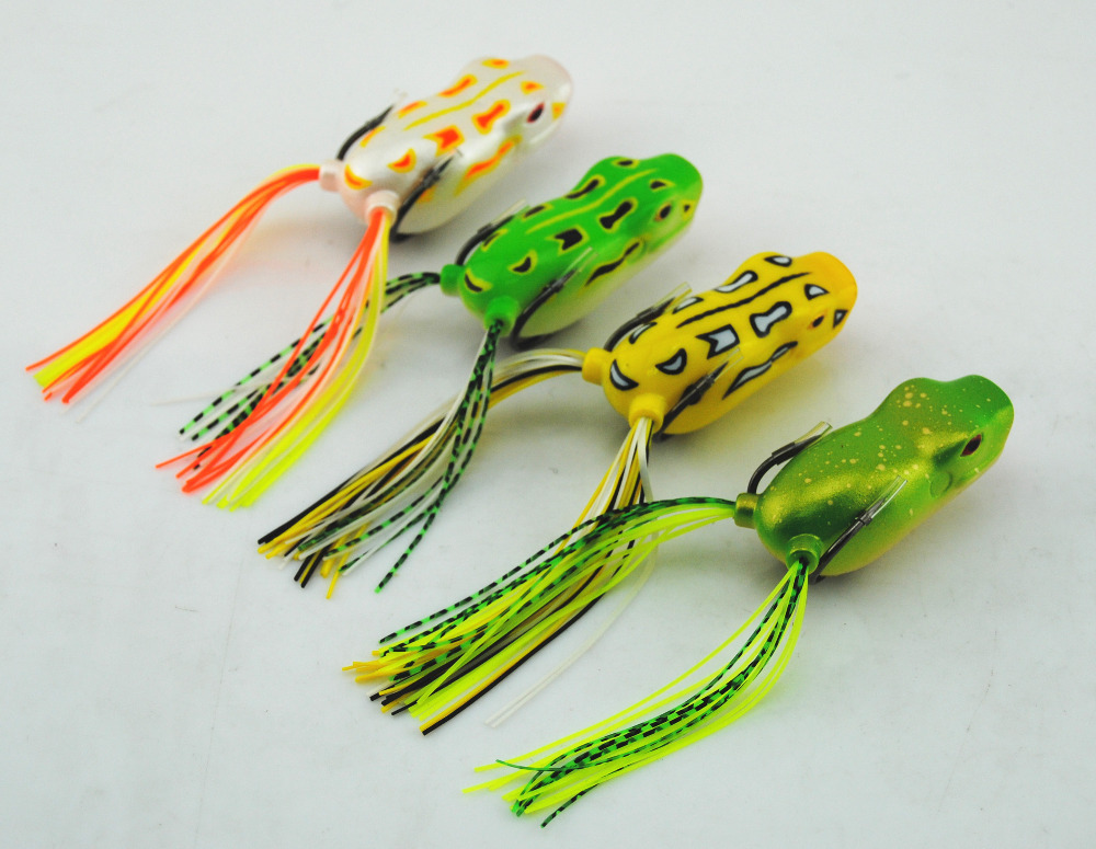 Brand New Arrival Frog fishing Lures artificial frogs 4pcs/Lot Spittin' Frog Lures Free Shipping(China (Mainland))