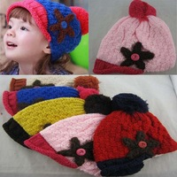 wholesale 5pcs lots mix colors Autumn winter handmade starfish style hat child baby pocket monochoria hat knitted hat