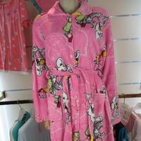Winter women's coral fleece robe cartoon lounge robe thickening plus size