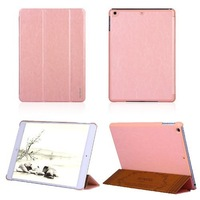 For Apple iPad Air Smart Cover Case Premium Ultra Slim Flip PU Leather Pouch Stand Auto Sleep Wake up Function-Light Pink